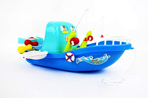 NBD Corp 27 PC Boat Fishing Toy for Kids, Floating Fishing Game for Kids