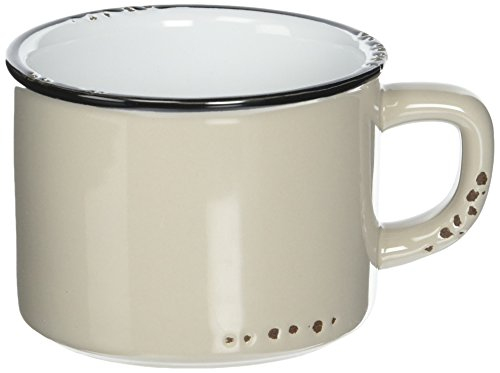 Collection Abbott (Abbott Collection Enamel Look Stoneware Cappuccino Cup, Grey)