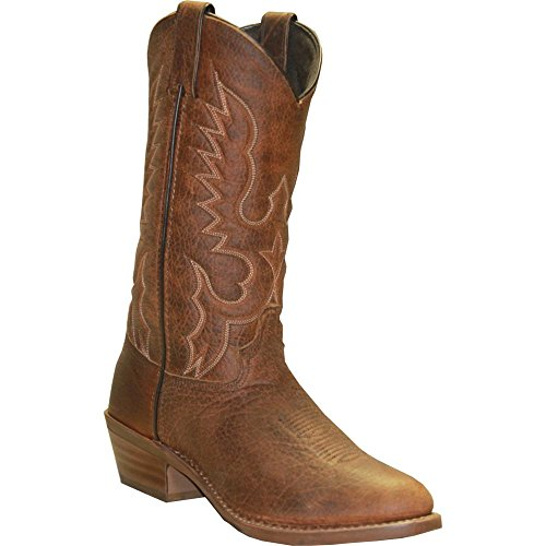 Abilene Men's Bison Leather Cowboy Boot Medium Toe Tan 9 D(M) US Abilene Boots