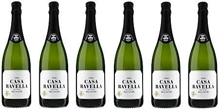 CASA RAVELLA Cava Brut Nature ECOLÓGICO 75 cl - Pack 6 botellas: Amazon.es: Alimentación y bebidas