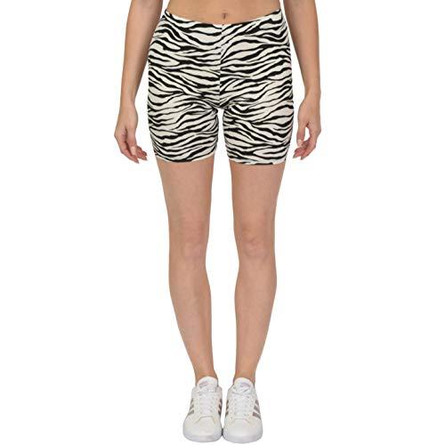 Stretch Zebra - Stretch is Comfort Women's Bike Shorts Zebra Small