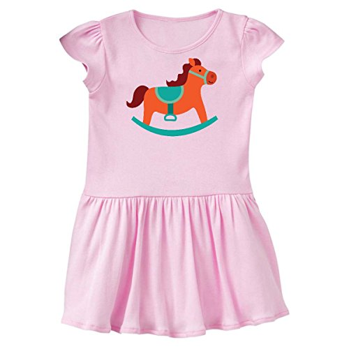 inktastic Rocking Horse Vintage Toy Toddler Dress 5/6 Ballerina Pink 1fbce