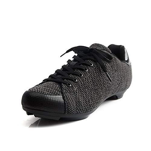 Tiebao Fly-Knit Sneaker Style Professional Road Bicycle Bike Cycling Ultralight Mesh Breathable Shoes SPS SL Look Spin Non-Slip Riding Shoes Lace-up