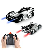 Faylor Wall Climbing Car Toys for Boy - Remote Control Car Climber with Battery Rechargeable | Dual Mode 360°Rotating Stunt,LED Head Gravity-Defying, Gift for Boys Kids Birthday Christmas