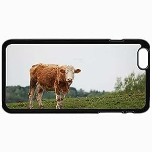 Fashion Unique Design Protective Cellphone Back Cover Case For iPhone 6 Case Cow Black