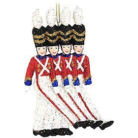 The Rockettes Toy Soldier Christmas Ornament - Glittering Holiday Decoration by Kurt (Rockettes Toy Soldier)