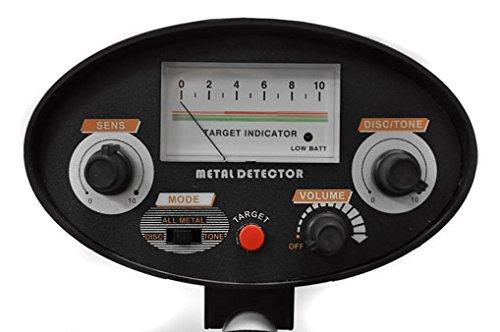 DURAMAXX Detector de Metales (Resistente al Agua 20 cm, diseño ultracompacto y Desmontable, Peso Ligero, 3 m Profundidad búsqueda, discriminación Ajustable, ...