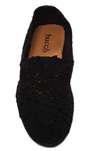 Bucco Mitty Crochet Flat Black seae8