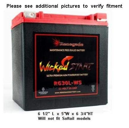 The Renegade RG30L-WS Ultra Premium is the best high powered motorcycle battery