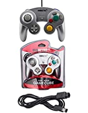 Silver Controller and 6ft Extension Cable Set –Compatible with Nintendo Gamecube, Switch, Wii U and PC by EVORETRO