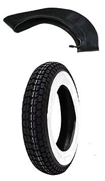 Mim Distribution Kit Neumático 3.50 10 Banda Blanca y filtro de aire: Amazon.es: Coche y moto