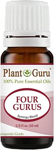Four Gurus Synergy Blend Essential Oil 10 ml. - 100% Pure Therapeutic Grade (Compare to Young Living Thieves & Doterra On Guard)