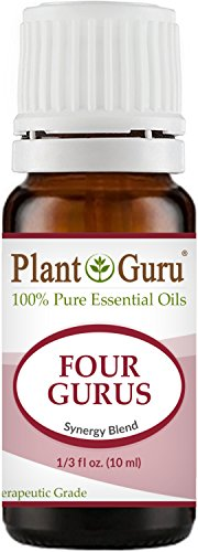 Four Gurus Synergy Blend Essential Oil 10 ml 100% Pure Natural Therapeutic Grade Blended With Clove, Cinnamon, Lemon, Rosemary Eucalyptus For Aromatherapy Diffuser And Immune Support
