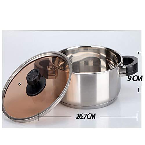 Cacerola De 26 Cm,Antiadherente Acero Inoxidable, Para Todo Tipo De Cocinas Incluido Inducción: Amazon.es: Hogar