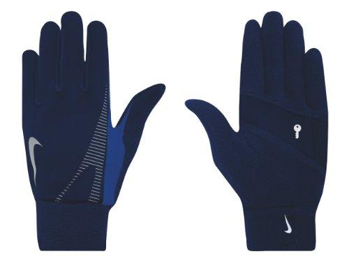 NIKE Men's Thermal Running Gloves (Obsidian/Varsity Royal, Large) -
