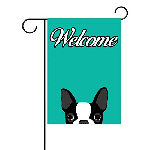 Coolstuffs Bostons terrier blue Garden Flag 12 X 18 Inch 100% Polyester Home Decor Flag