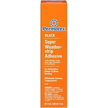 Permatex 81850 Black Super Weatherstrip Adhesive, 5 oz.