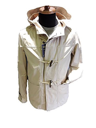 In Sfoderato Con Coat Cappuccio Beige Impermeabile 8138 Woolrich Montgomery Uomo Duffle Wocps1912 Estivo Regular Cotone Fit 8xPqp0R