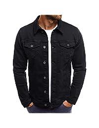 LISTHA Vintage Denim Jacket Men's Spring Button Solid Color Tops Short Coat