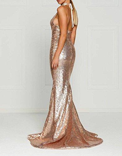 Prom Sequin Shiny Dresses C042 Long Deep Sparkle V Chellen Evening Dresses Neck C8zZqZ
