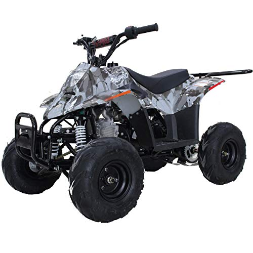 X-PRO Bolt 110 110cc ATV Quad Youth ATVs Quads 110cc 4 Wheeler ATVs Kid Size ATV 4 Wheelers (Black Camo)