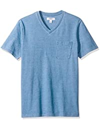 Amazon Brand - Goodthreads Men's Short-Sleeve Indigo V-Neck Pocket T-Shirt