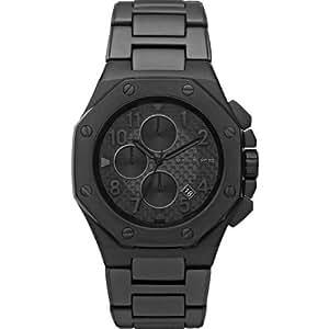 Michael Kors MK8198 - Reloj con correa de piel para hombre, color negro / gris