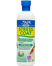 API POND STRESS COAT Pond Water Conditioner 16-Ounce Bottle