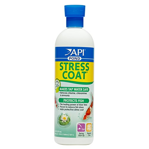 API POND STRESS COAT Water conditioner For Pond 16-Ounce Bottle