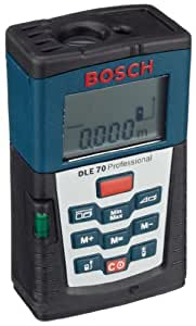 Bosch DLE 70 Professional - Metro (LR03 (AAA), 1.5 V, 5 h, 180 g, 59 x 100 x 32 mm)