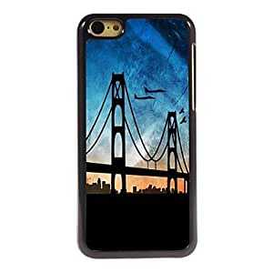WQQ Funda Trasera - Dibujos/Metálico/Diseño Especial/Innovador - para iPhone 5C Policarbonato/Metal ) , Blue