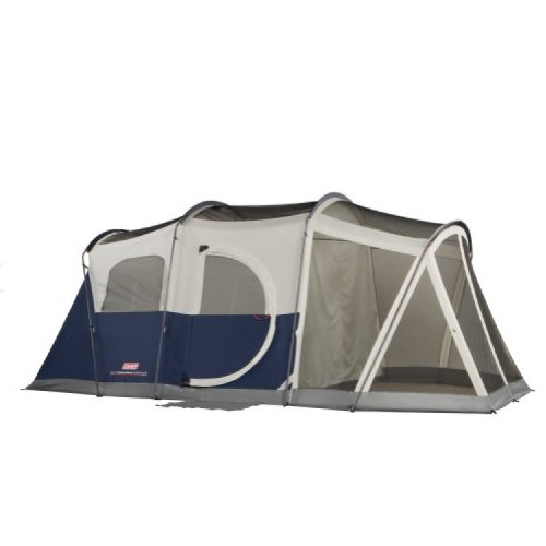 Coleman Elite WeatherMaster 6 Screened Tent,Multi Colored,6L x 9W ft. (Screened Area) (Coleman 6 Tent)