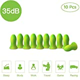 Ultra Soft Foam Earplugs, 5 Pair - 35dB Highest NRR, Comfortable Ear Plugs for Sleeping, Snoring, Work, Travel & Loud Events