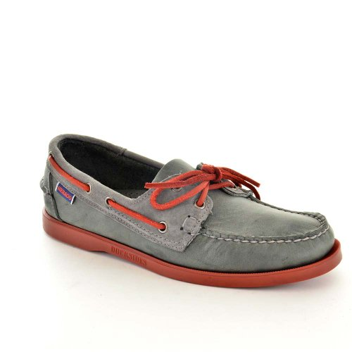 Sebago Mens Casual Boat Shoes Size 7 M B10016 Spinnaker Gray Leather MtTIjoUt