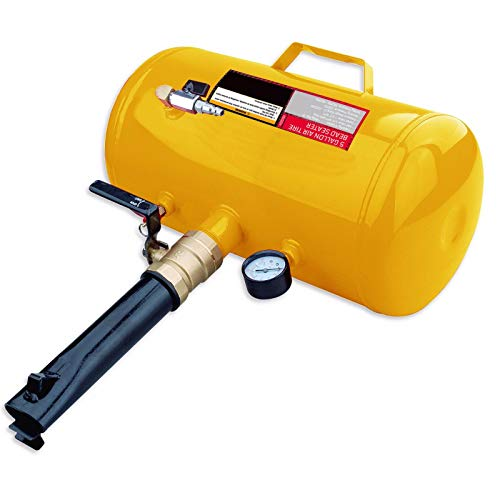- Steel Core 5 Gallon Air Tire Bead Seater Blaster Tool Seating Inflator | Working pressure: 125PSI