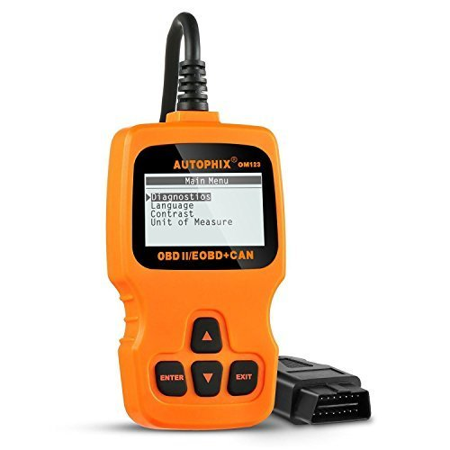 AUGOCOM OM123 OBDII EOBD Scanner Car Fault Code Reader CAN Diagnostic Tool (Orange)