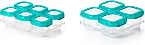 OXO Tot 2 Ounce Baby Blocks Food Storage Containers, Teal & Baby Blocks Freezer Storage Containers (4 Oz)