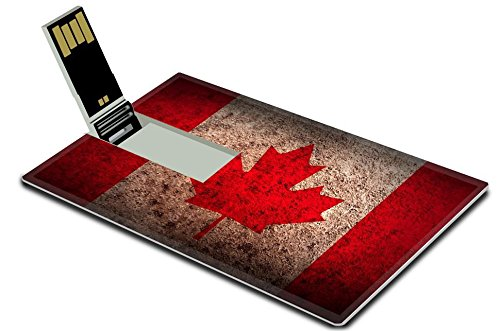 Cruzer Freedom Usb (Luxlady 32GB USB Flash Drive 2.0 Memory Stick Credit Card Size Flag of Canada with old texture Vector illustration IMAGE 36246033)