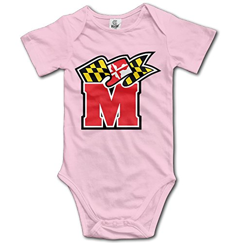 Price comparison product image OOKOO Baby's University Of Maryland Terps Bodysuits Pink 6 M