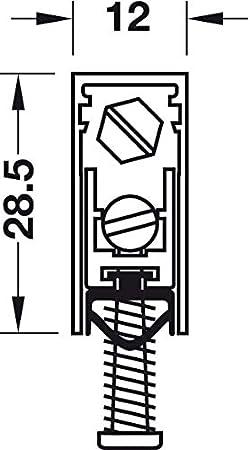 Dichtungsprofil Zimmert/ür Gedotec T/ürbodendichtung automatisch Zimmer-T/ürdichtung Absenkdichtung 1772 Zugluftstopper k/ürzbar 1 Set | L/änge 930 mm Universal-Dichtung f/ür schall-hemmende T/üren