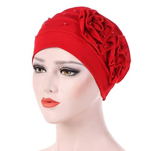 dressin hat women bowknot muslim ruffle chemo
