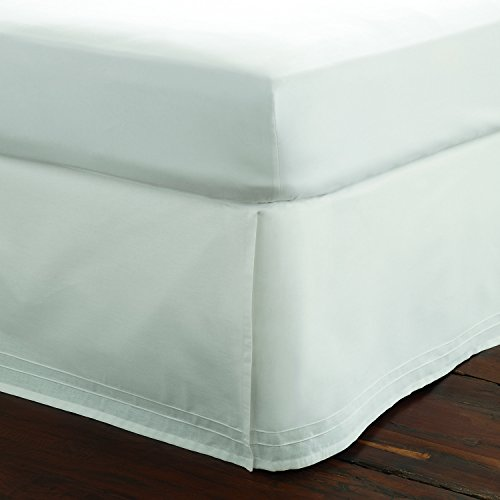 - Laura Ashley Solid White Tailored Bedskirt, Queen,