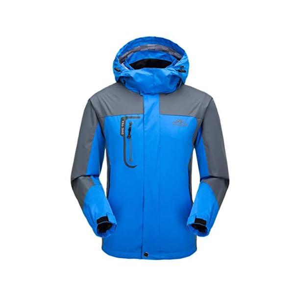 Veste Impermeable Homme Printemps Légère Chaude Coupe-Vent Blouson à Capuche Softshell Veste Outdoor Sportswear pour…