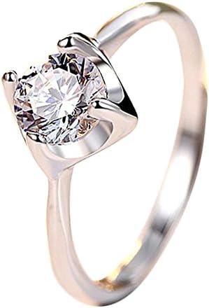 Doitsa リング 指輪 フリー サイズ 調節可能 キラキラ 手飾り 誕生日 クリスタル 結婚式 婚約 記念日 ファッション