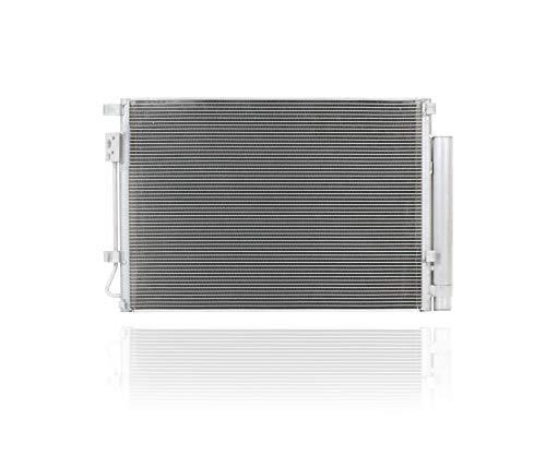 A-C Condenser - Pacific Best Inc For/Fit 4438 Kia Rio5 Rio Sedan Hyundai Accent Sedan Hatchback Veloster w/Receiver & Dryer Parallel Flow