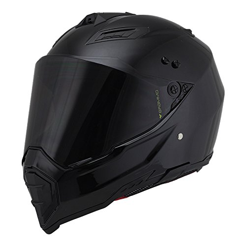 Woljay Dual Sport Off Road Motorcycle helmet Dirt Bike ATV D.O.T certified (M, Black)