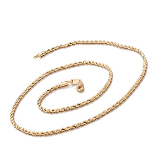 Burlesque Costumes Perth (Romantic Time Womens Mens Width 1.6mm Hinged Clip 18k Rose Gold Plated Rope Necklace)
