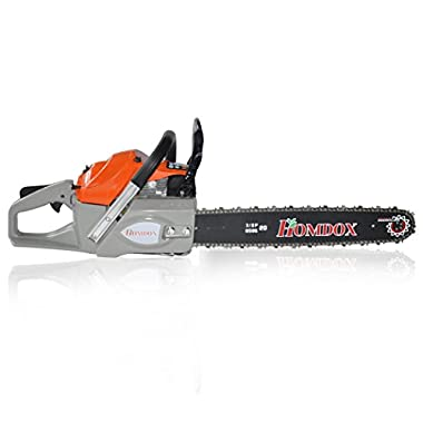 [US Stock] Homdox 20-inch 62cc 2 Stroke Gas Powered Chain Saw 4.2HP Tree Chainsaw F6200