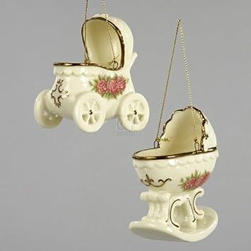 Amazon.com: clásico Rose – Cochecito de bebé ornamento de ...
