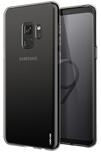 (Galaxy S9 Case, CASEVASN [Shockproof] Anti-Scratches Flexible TPU Gel Slim Fit Soft Skin Silicone Protective Case Cover for Samsung Galaxy S9 (Smoke)